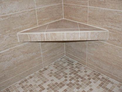 finish with tile showerseat