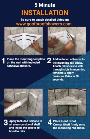 Have You Ever Installed A Tile Corner Shelf In Less Then 5 Minutes? Without  Using A Single Tool???